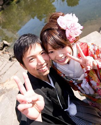 和装前撮り 東京庭園