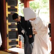 浅草神社結婚式 白無垢レンタル着付けヘアメイク