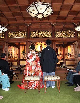 西蓮寺 仏前結婚式