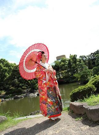和装前撮り 東京庭園格安