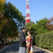 和装前撮り 東京タワーロケーション