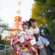 和装前撮り東京タワーロケーション