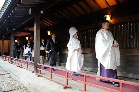 結婚式参進 代々木八幡宮