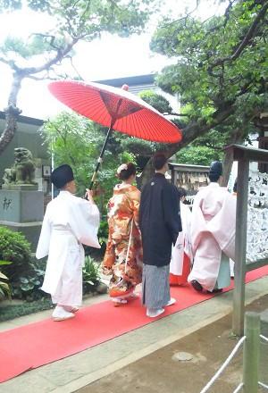 鳩森八幡神社結婚式
