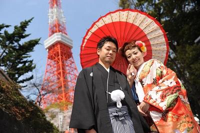 和装前撮り東京タワー