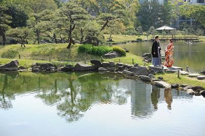 和装前撮り東京 庭園