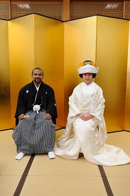 星川杉山神社結婚式 白無垢着付けとヘアメイク