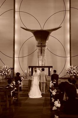 出張ブライダル カトリック目黒教会結婚式