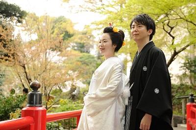 ホテル椿山荘東京結婚式 白無垢着付けと新日本髪結い上げ
