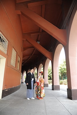 和装前撮り東京神宮外苑銀杏並木