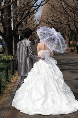 ウエディングドレスヘアメイクと撮影 東京青山