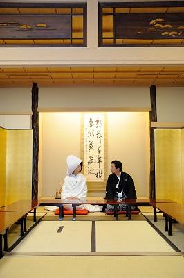 小野照崎神社結婚式 白無垢着付け