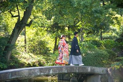 和装前撮り東京庭園 格安