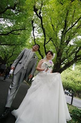 ウエディングドレス撮影東京 ロケ