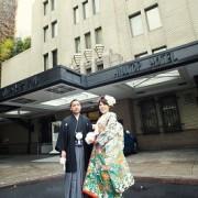 山の上ホテル結婚式 打掛着付け
