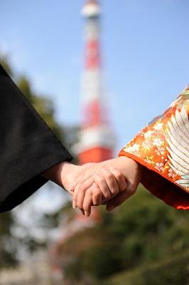 結婚式和装 東京タワー
