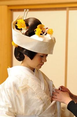 仏前結婚式 打掛レンタル着付けヘアメイク