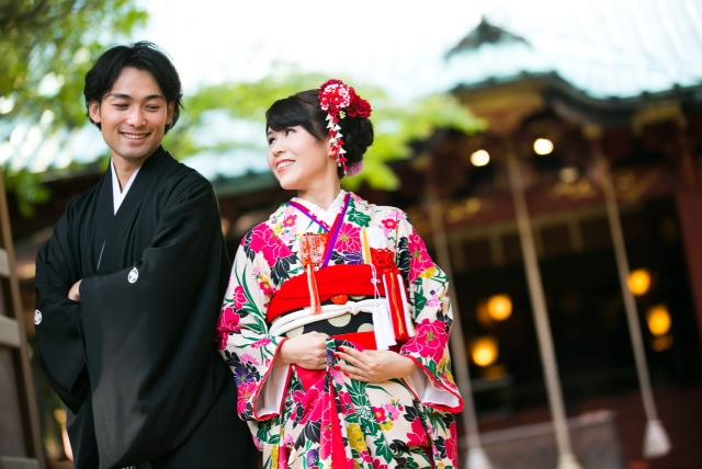 赤坂氷川神社結婚式 白無垢着付けレンタル