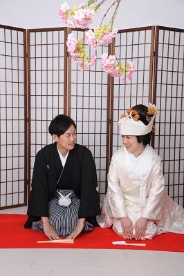 結婚式白無垢着付け
