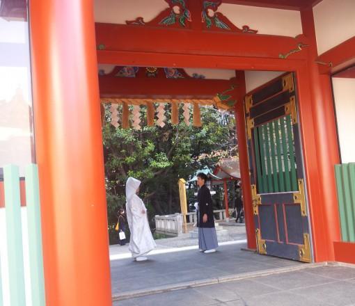 日枝神社結婚式 白無垢レンタル着付けヘアメイク