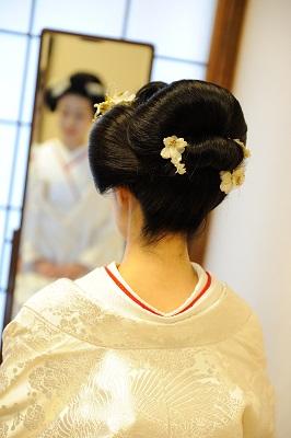 地毛新日本髪 結婚式 代々木八幡宮