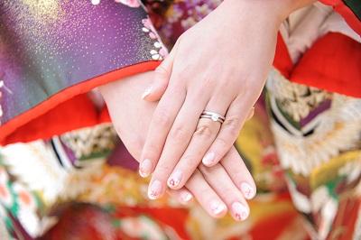 結婚式指輪 和装フォトウエディング