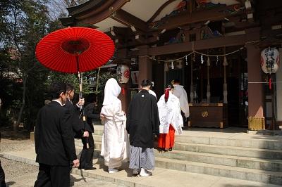 北澤八幡宮結婚式 白無垢レンタル着付けヘアメイク結婚式カメラマンスナップ写真