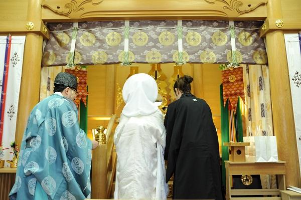 麻布十番稲荷神社結婚式 白無垢