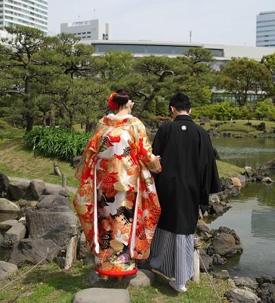 前撮り庭園ロケ東京