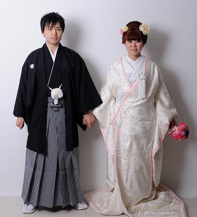 白無垢 新日本髪 前撮りと結婚式