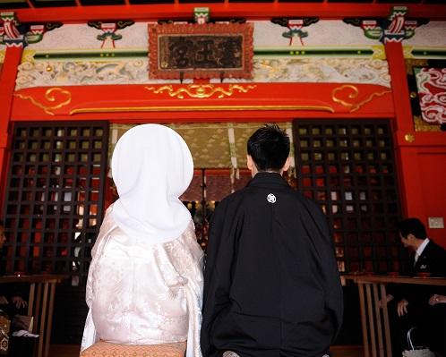 江島神社結婚式 白無垢レンタル着付けヘアメイク 結婚式ブライダルスナップ写真