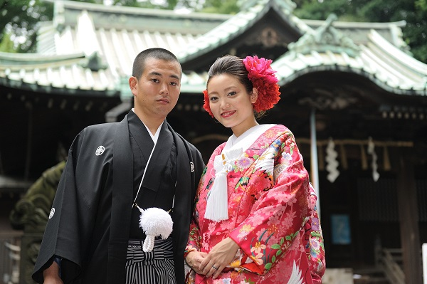 代々木八幡宮結婚式 色打掛レンタル着付けヘアメイク