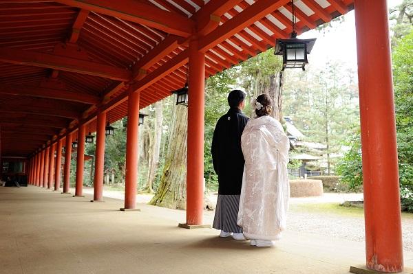 香取神宮結婚式 着付け