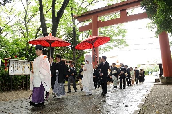世田谷八幡神社結婚式白無垢レンタル着付けヘアメイク