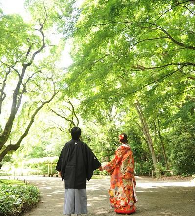 結婚式写真和装