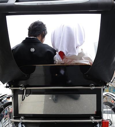 結婚式人力車