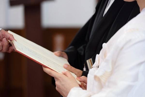 教会結婚式 白無垢着付けとレンタル写真