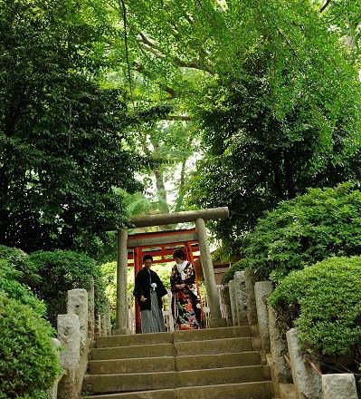 根津神社結婚式 白無垢レンタル着付けヘアメイク 撮影