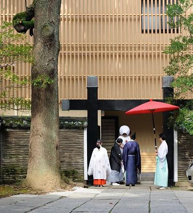 赤坂氷川神社結婚式スナップ写真