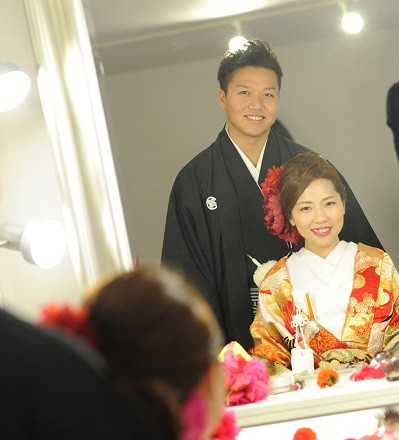 青山外苑前結婚式和装色打掛着付けヘアメイクレンタル