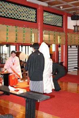 熱海来宮神社結婚式と披露宴費用 カメラマン撮影