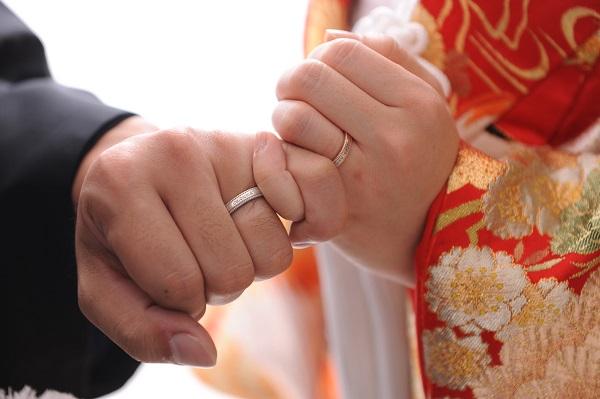 結婚式指輪写真