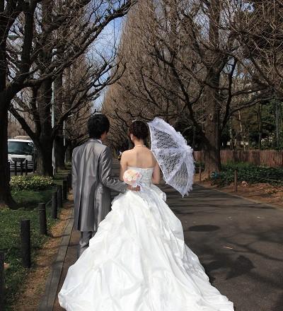 青山外苑前ドレス結婚式撮影