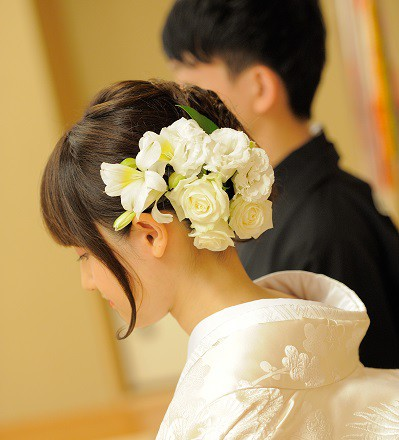 浅草神社結婚式着付け