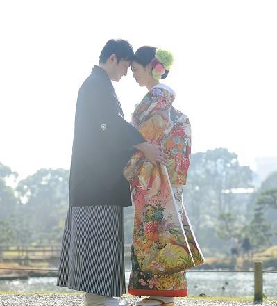 色打掛結婚式