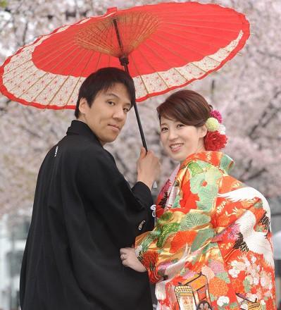 色打掛結婚式春