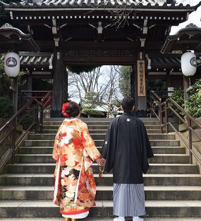 豊川稲荷結婚式レンタル着付けヘアメイクカメラマンスナップ