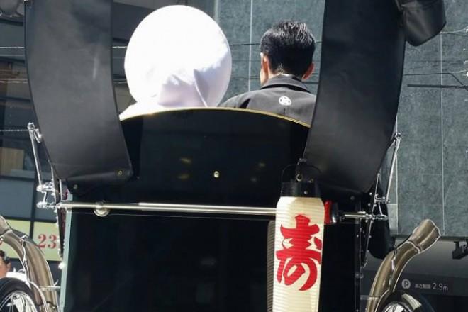 結婚式披露宴プロデュース東京 結婚式人力車