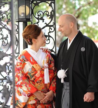 国際結婚日本で和装
