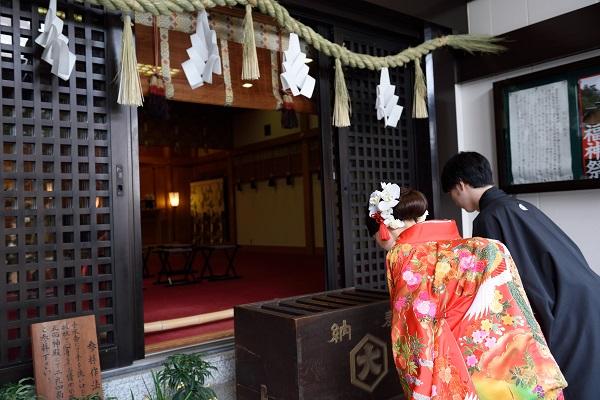 f21d20a05c499 出雲大社東京分祀 和装白無垢で結婚式と色打掛で披露宴